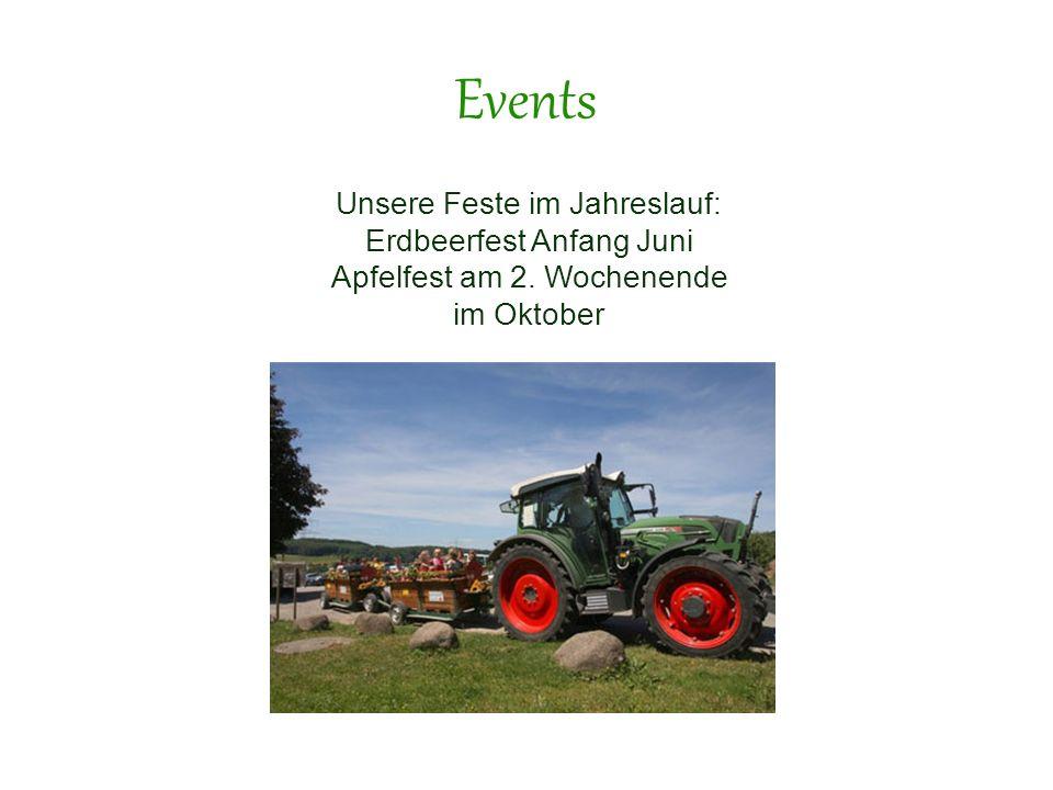 Events Unsere Feste im Jahreslauf: Erdbeerfest Anfang Juni