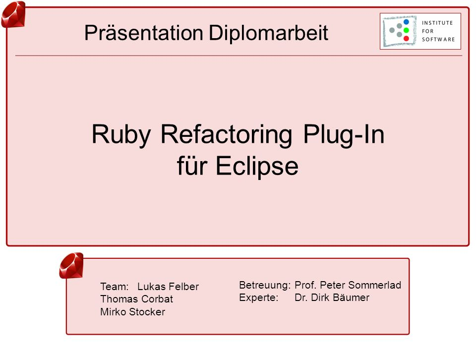 Ruby Refactoring Plug-In für Eclipse