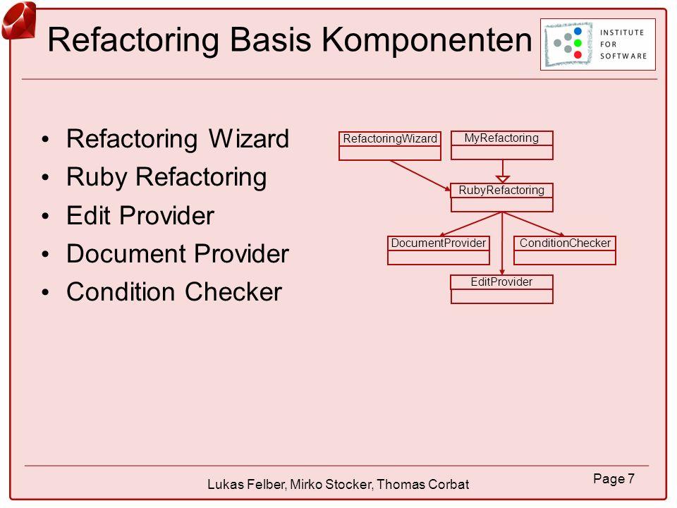 Refactoring Basis Komponenten
