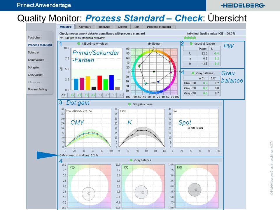 Quality Monitor: Prozess Standard – Check: Übersicht