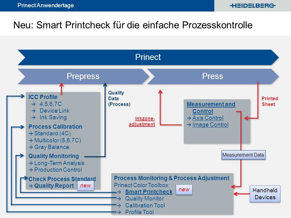 Neu: Smart Printcheck für die einfache Prozesskontrolle