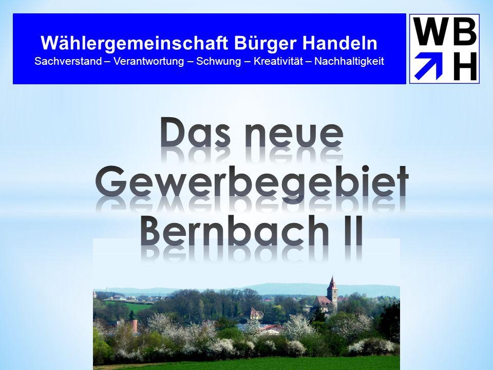 Das neue Gewerbegebiet Bernbach II