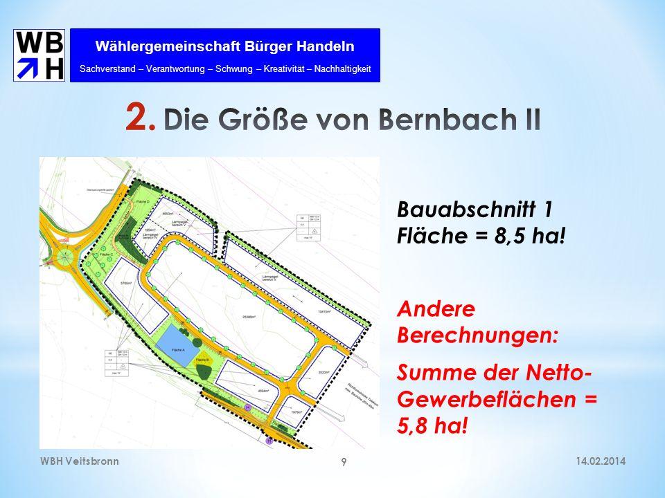 Die Größe von Bernbach II