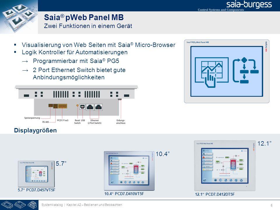 Saia® pWeb Panel MB Zwei Funktionen in einem Gerät