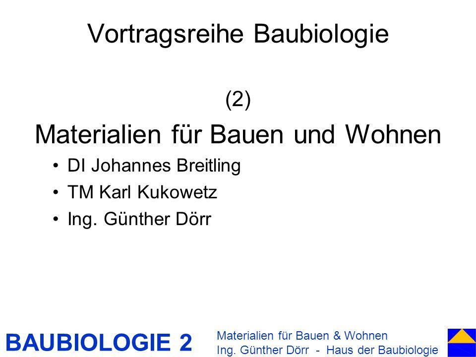 Vortragsreihe Baubiologie