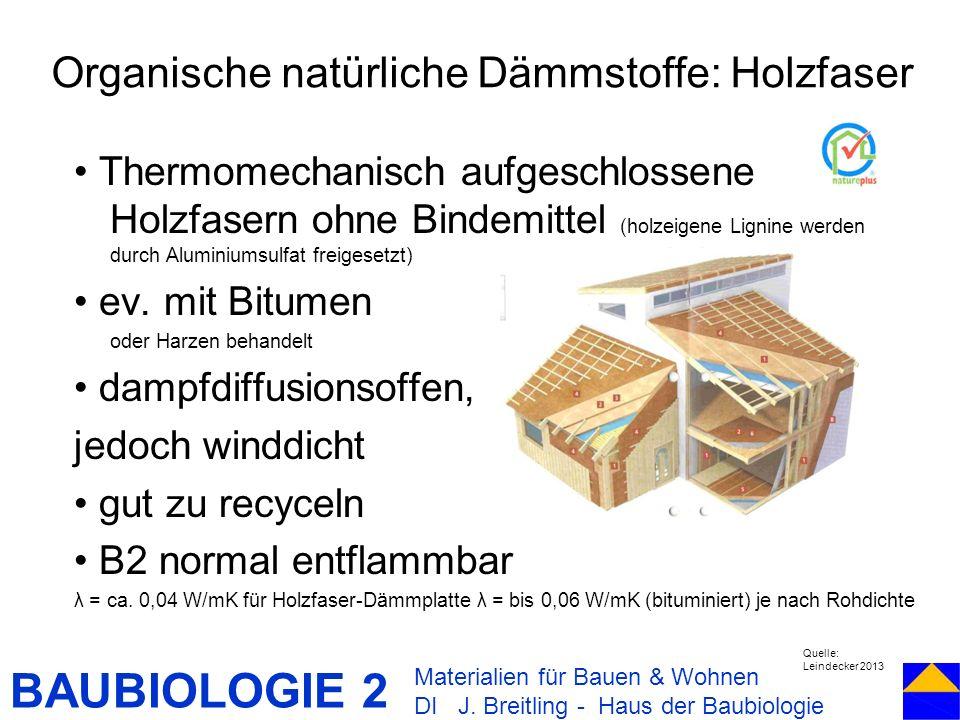 Organische natürliche Dämmstoffe: Holzfaser