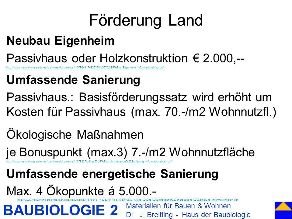 Förderung Land Neubau Eigenheim