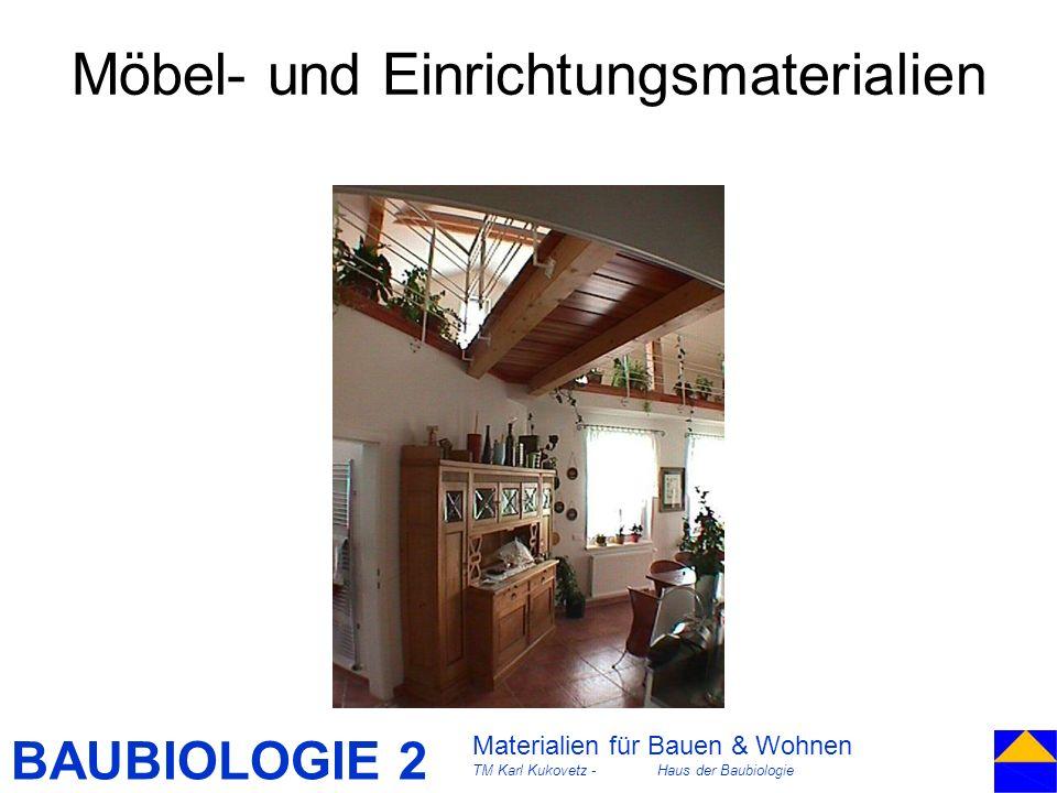 Möbel- und Einrichtungsmaterialien