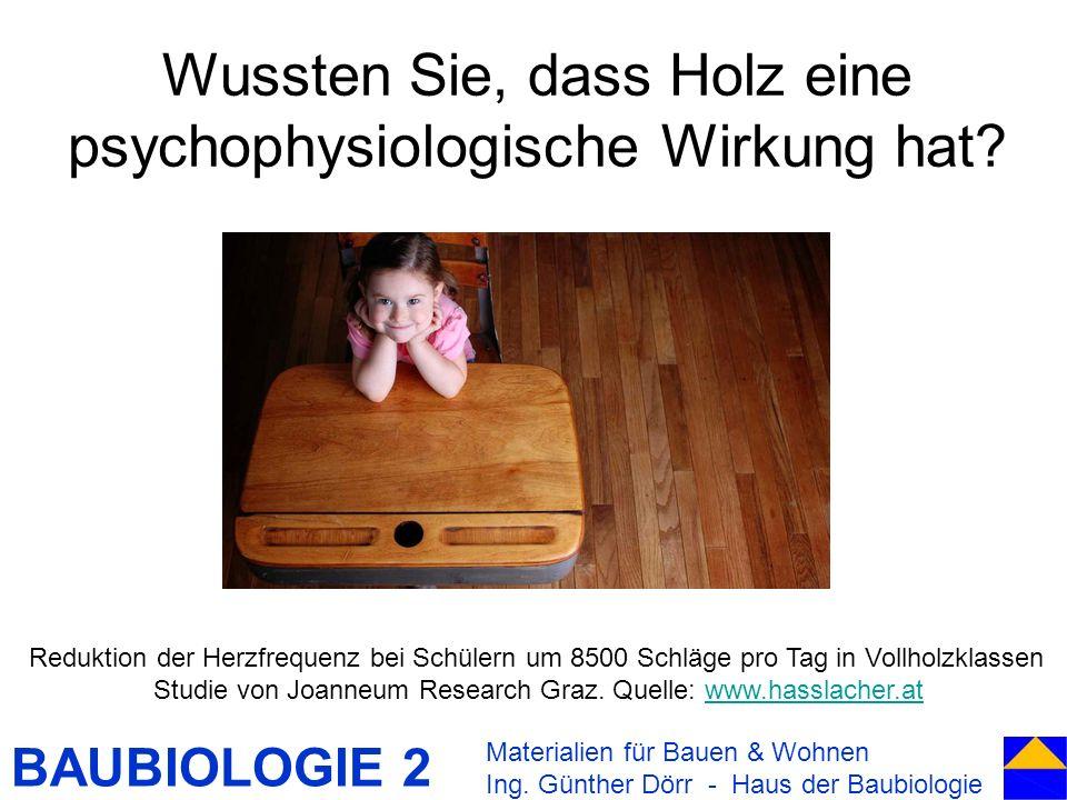 Wussten Sie, dass Holz eine psychophysiologische Wirkung hat