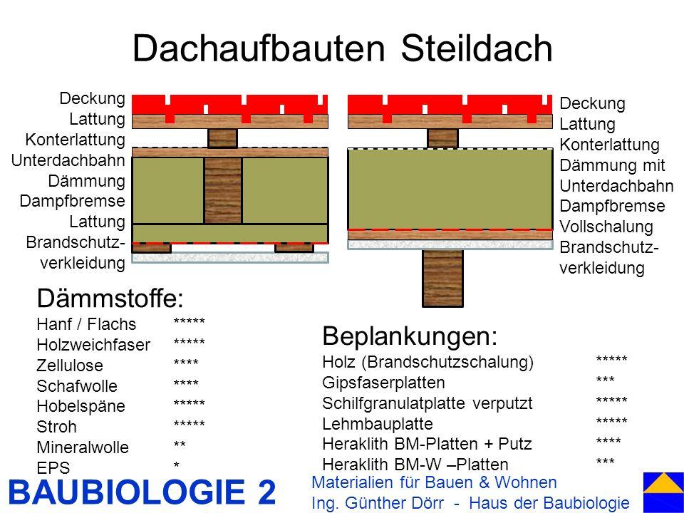 Dachaufbauten Steildach