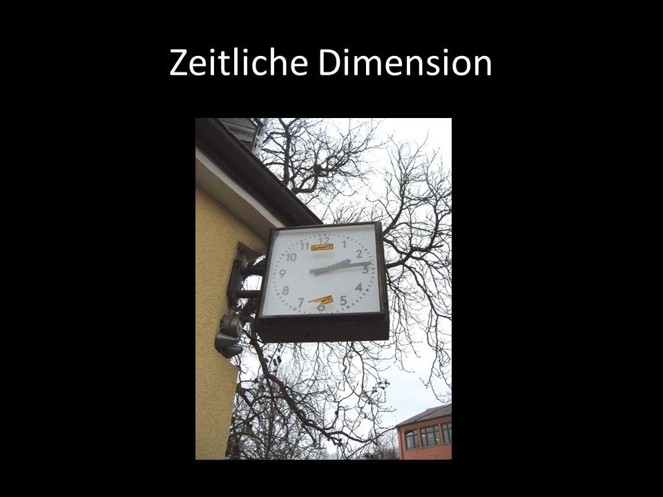 Zeitliche Dimension