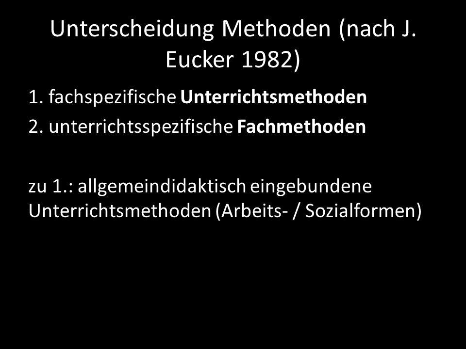 Unterscheidung Methoden (nach J. Eucker 1982)