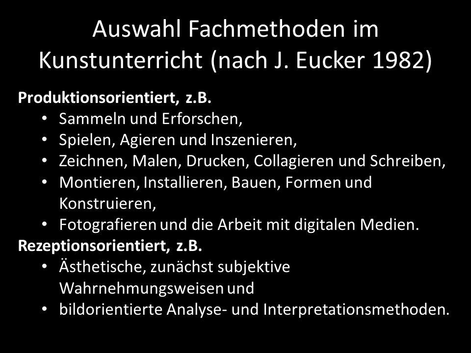 Auswahl Fachmethoden im Kunstunterricht (nach J. Eucker 1982)
