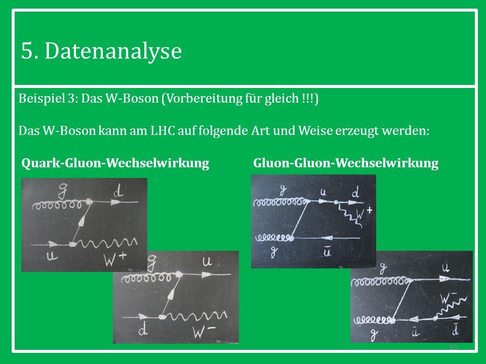 5. Datenanalyse Beispiel 3: Das W-Boson (Vorbereitung für gleich !!!)