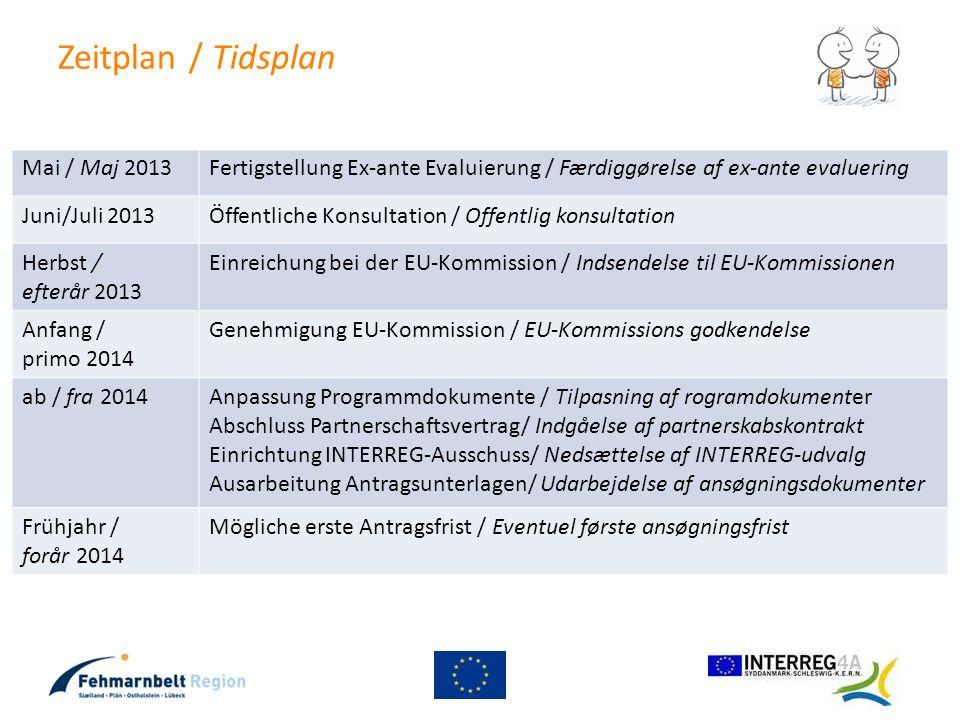 Zeitplan / Tidsplan Mai / Maj 2013