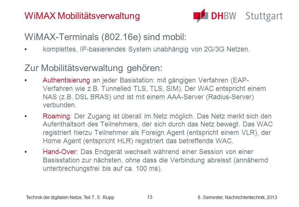 WiMAX Mobilitätsverwaltung
