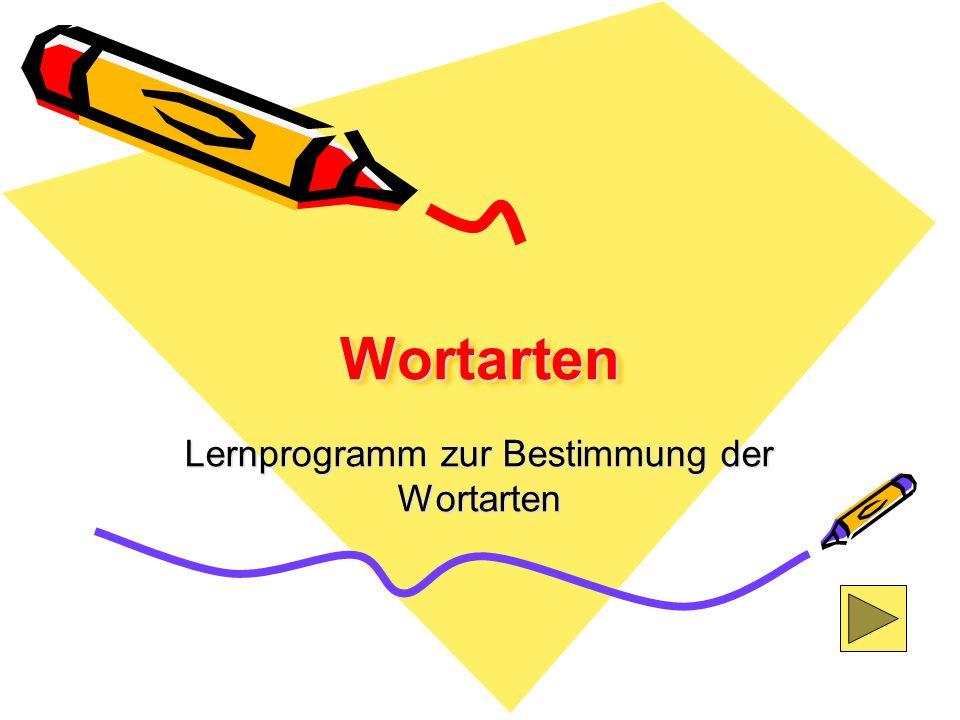 Lernprogramm zur Bestimmung der Wortarten