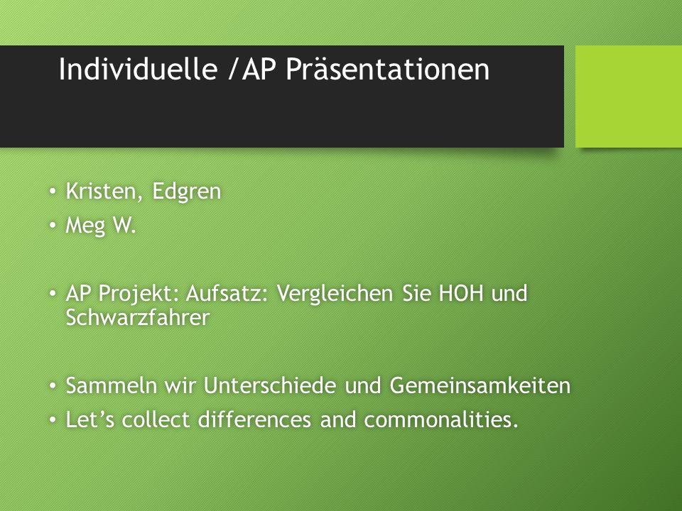Individuelle /AP Präsentationen