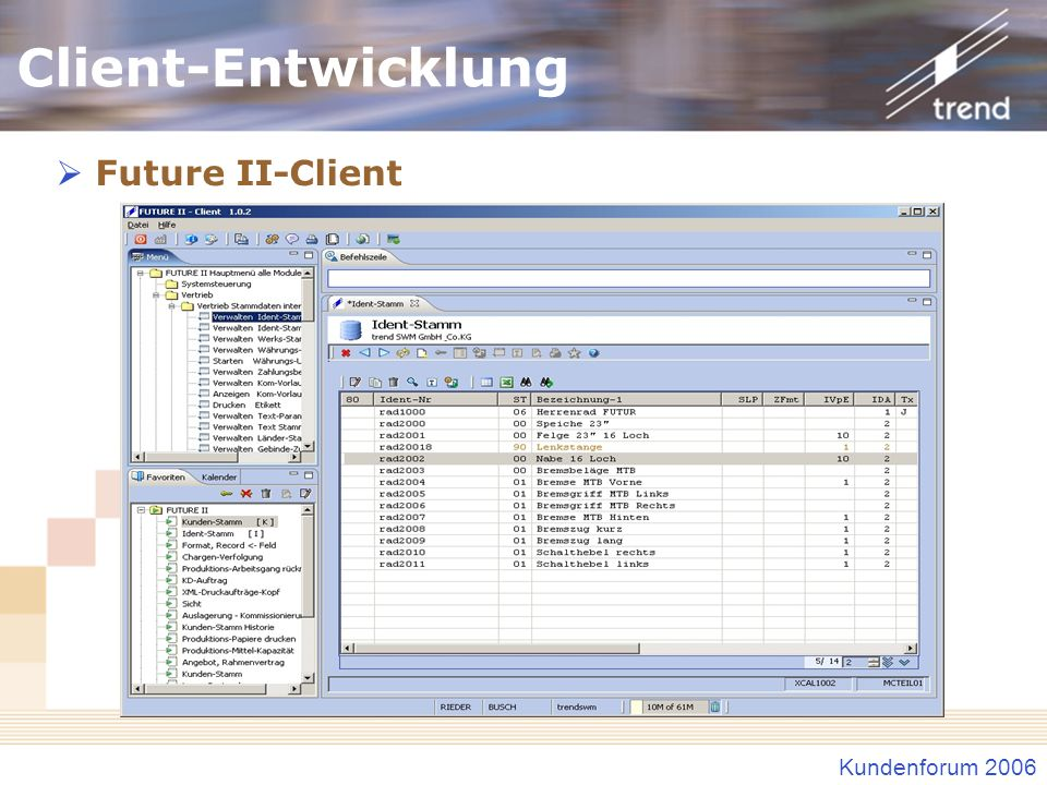 Client-Entwicklung Future II-Client