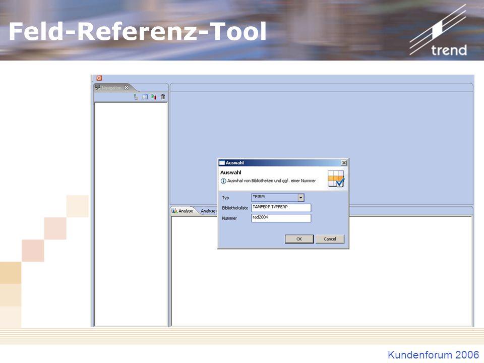 Feld-Referenz-Tool Einstieg Auswahl Feldtyp Bibliotheksliste