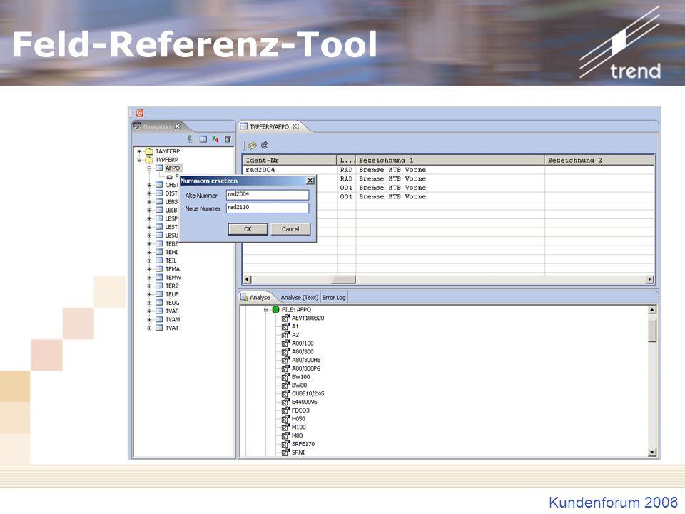 Feld-Referenz-Tool Beispiel für Austausch
