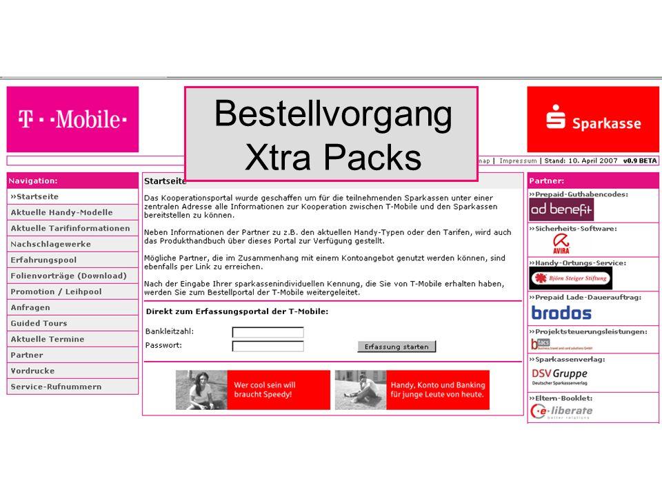 Bestellvorgang Xtra Packs