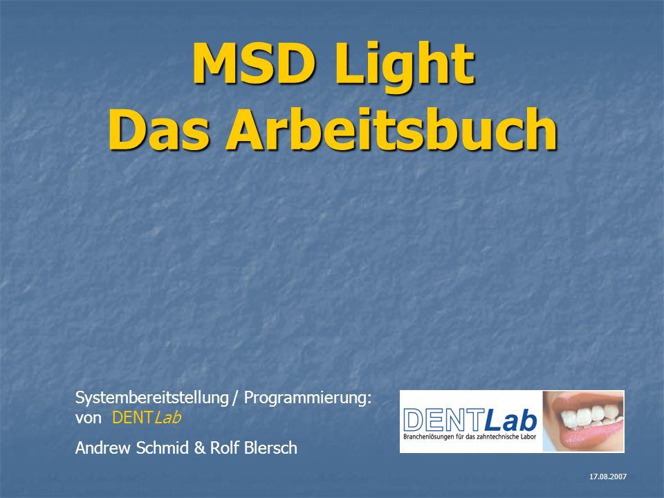 MSD Light Das Arbeitsbuch