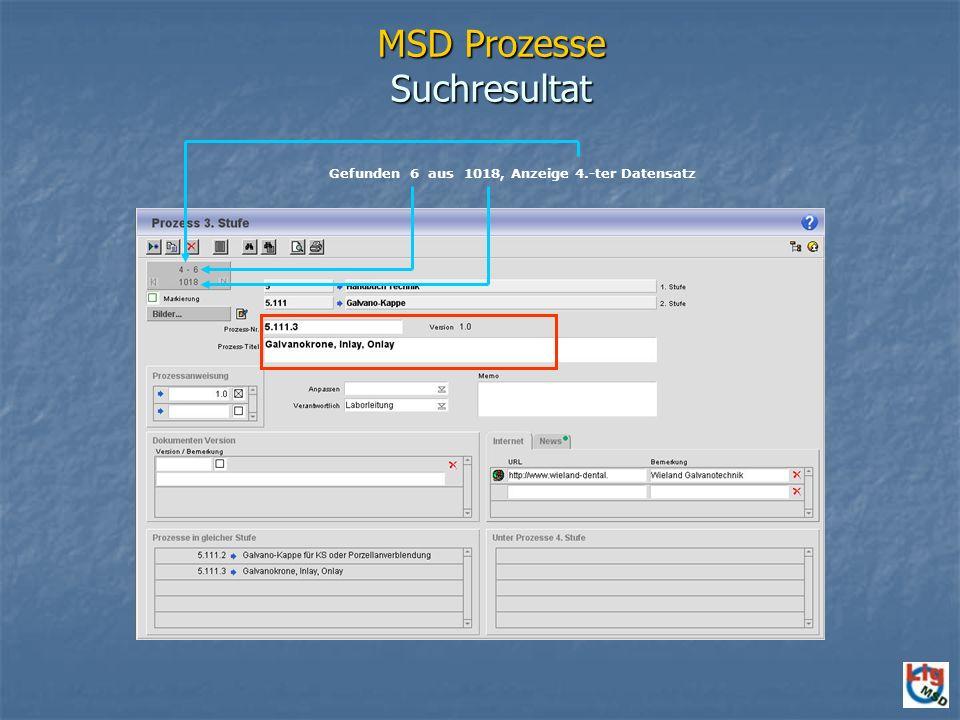MSD Prozesse Suchresultat