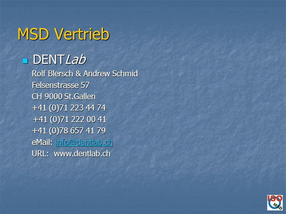 MSD Vertrieb DENTLab Rolf Blersch & Andrew Schmid Felsenstrasse 57