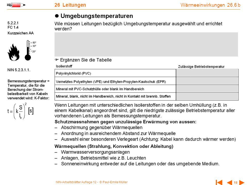 26 Leitungen Wärmeeinwirkungen 26.6 b