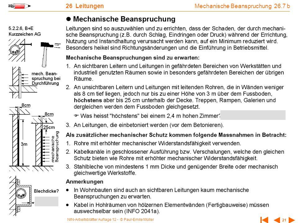 Mechanische Beanspruchung 26.7 b