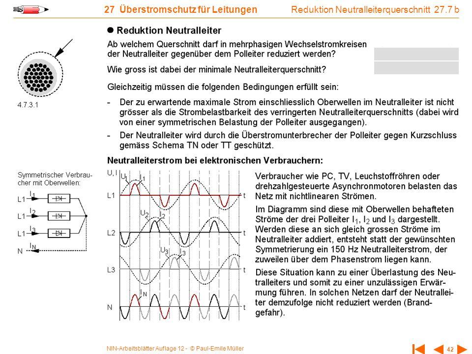 Reduktion Neutralleiterquerschnitt 27.7 b