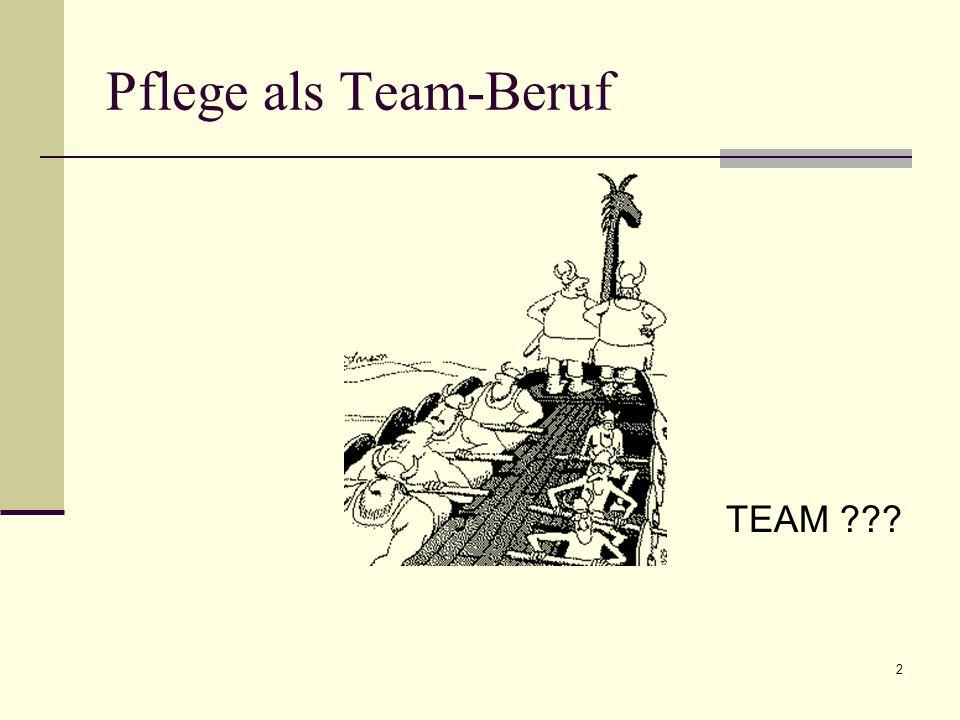 Pflege als Team-Beruf TEAM