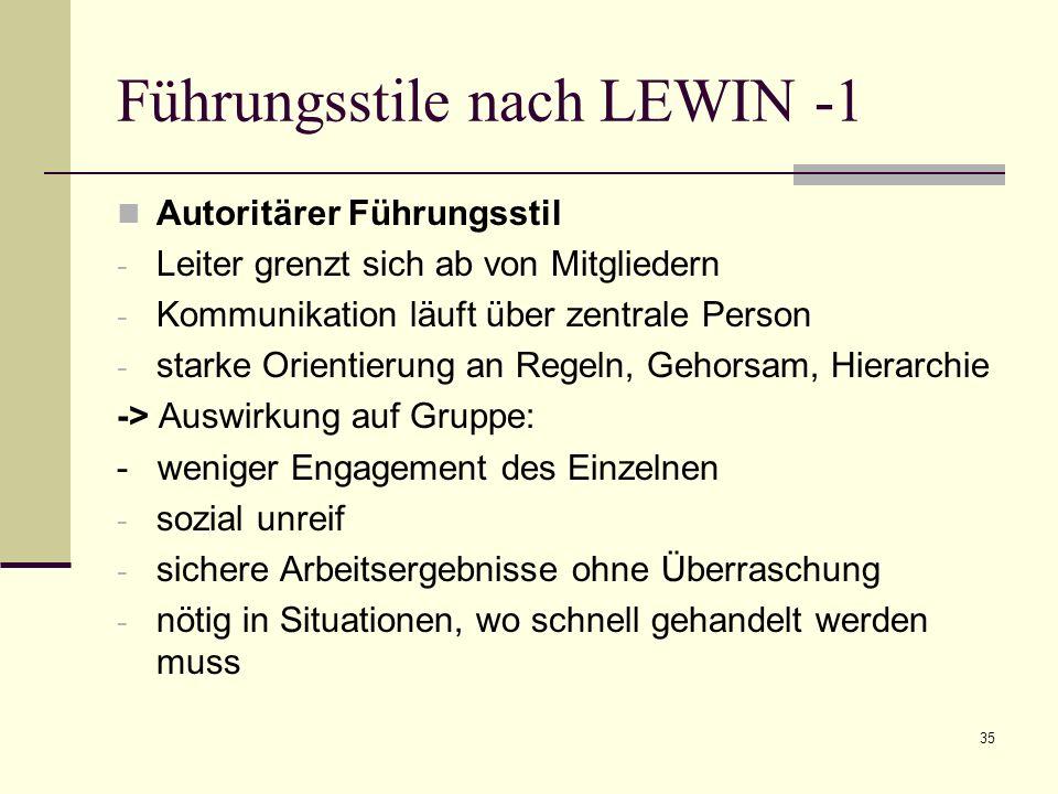 Führungsstile nach LEWIN -1