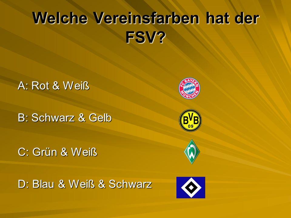 Welche Vereinsfarben hat der FSV