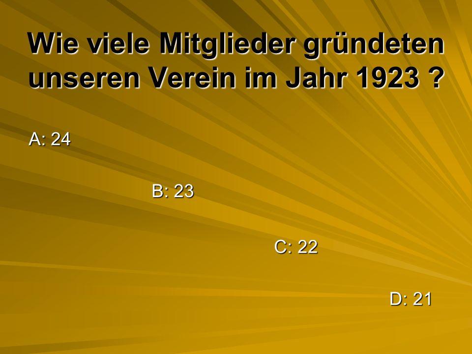 Wie viele Mitglieder gründeten unseren Verein im Jahr 1923