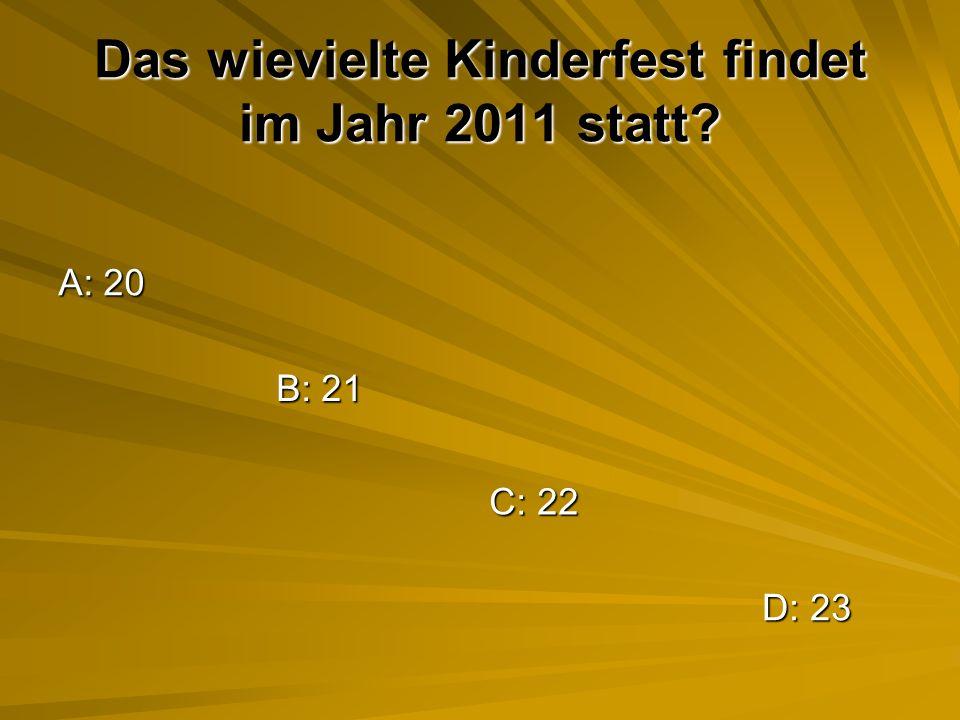 Das wievielte Kinderfest findet im Jahr 2011 statt