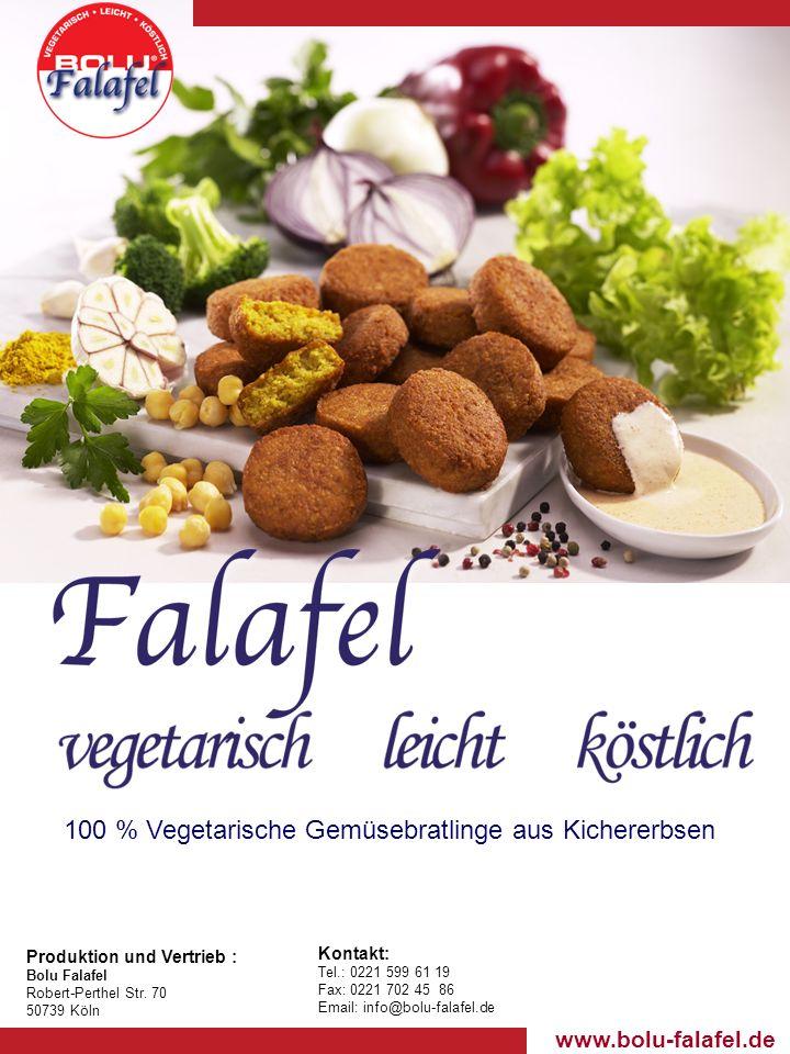 100 % Vegetarische Gemüsebratlinge aus Kichererbsen