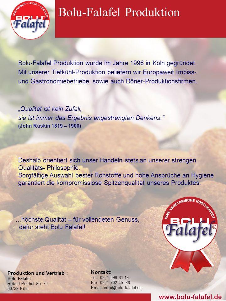 Bolu-Falafel Produktion