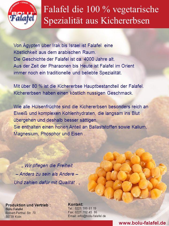 Falafel die 100 % vegetarische Spezialität aus Kichererbsen
