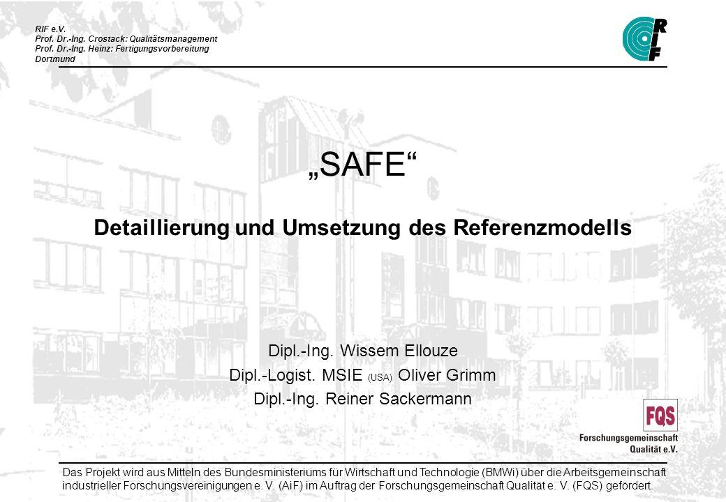 """""""SAFE Detaillierung und Umsetzung des Referenzmodells"""
