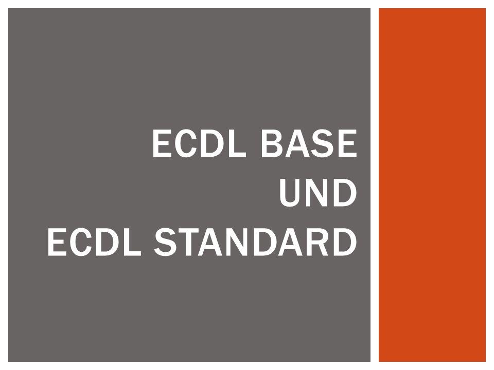ECDL BASE und ECDL STANDARD