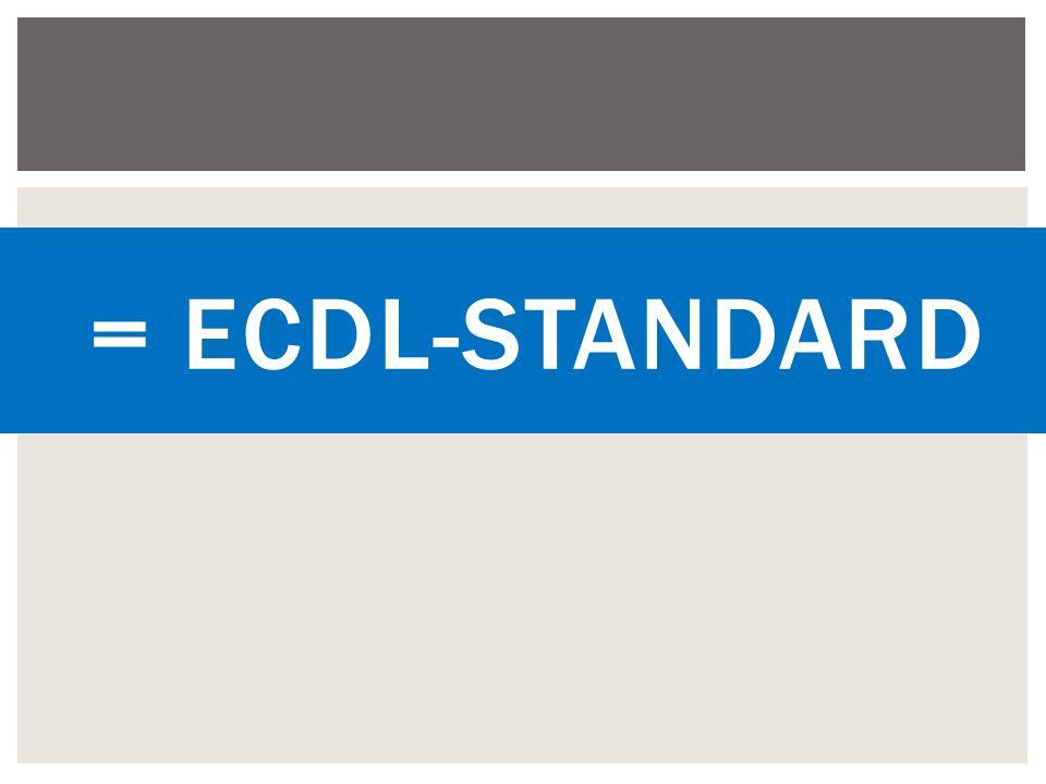 = ECDL-Standard