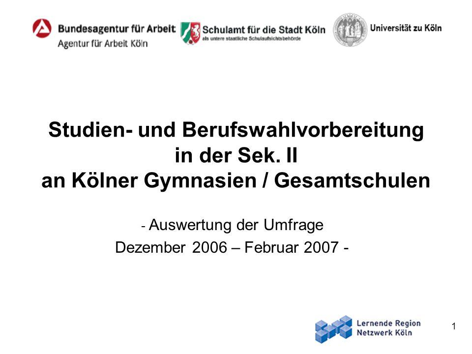 Auswertung der Umfrage Dezember 2006 – Februar 2007 -