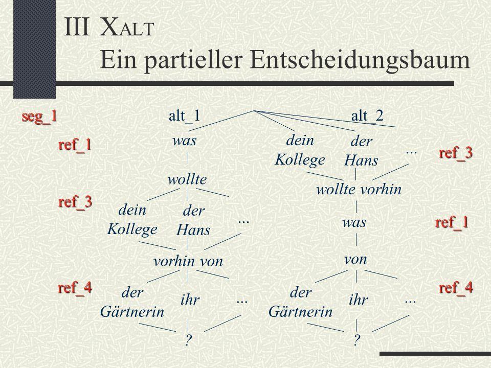 III XALT Ein partieller Entscheidungsbaum