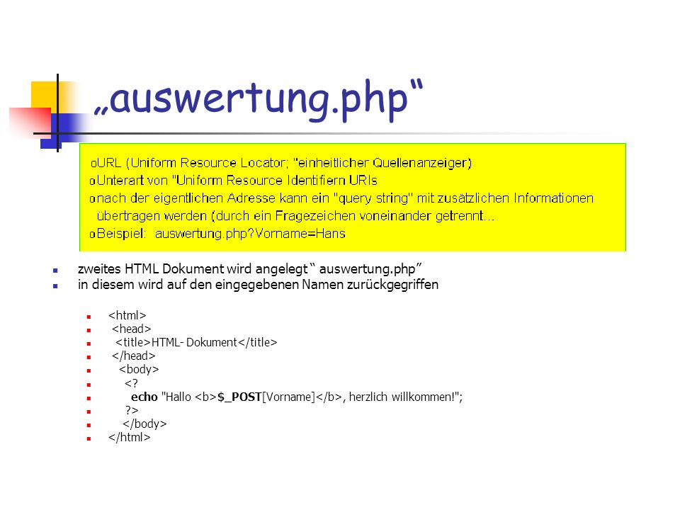 """""""auswertung.php zweites HTML Dokument wird angelegt auswertung.php"""