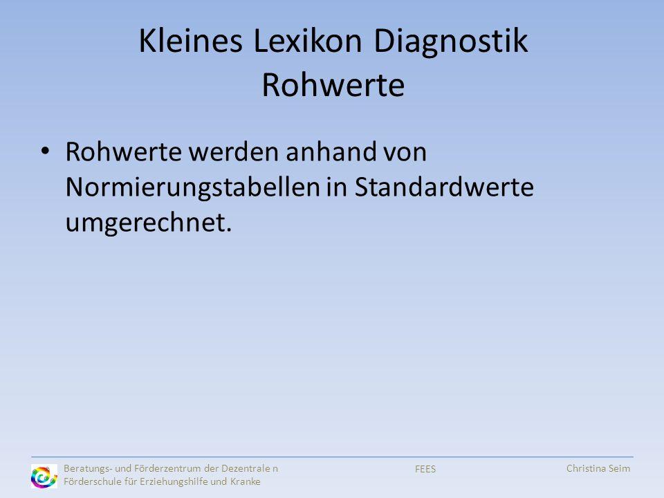 Kleines Lexikon Diagnostik Rohwerte