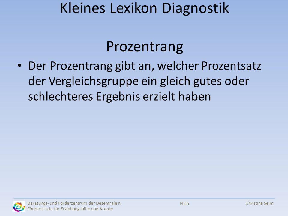 Kleines Lexikon Diagnostik Prozentrang