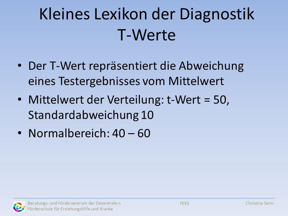 Kleines Lexikon der Diagnostik T-Werte