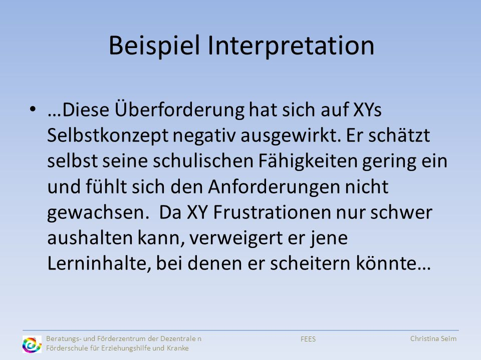Beispiel Interpretation